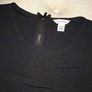 Calvin Klein versatile black blouse